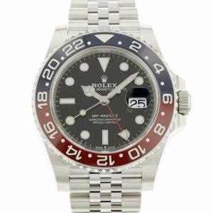 赤青ベゼルがペプシと呼ばれるロレックス「GMTマスター2 Ref.126710BLRO」の新品同様品が入荷しました