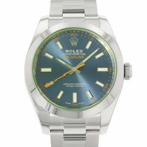 ロレックスの磁気時計「ミルガウス Ref.116400GV」グリーンガラスの中古美品が入荷しました